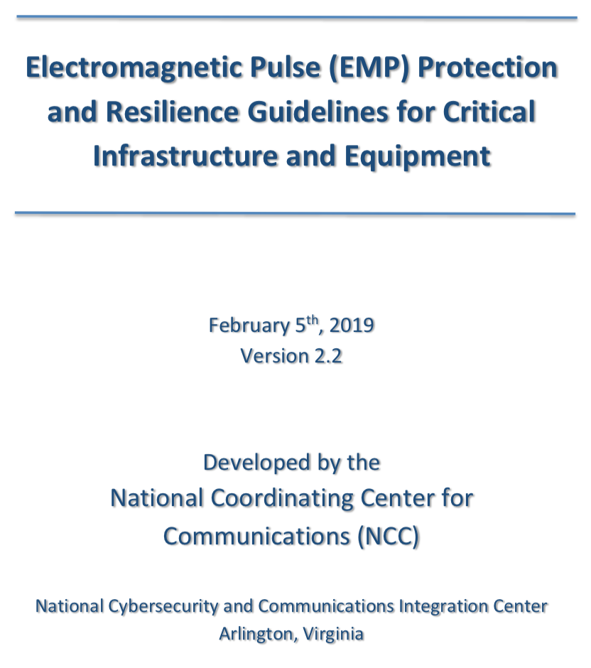 EMP Protection and Resilience Guidelines - 5 February 2019